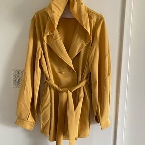 3 for 20 Yellow lightweight trench style coat.